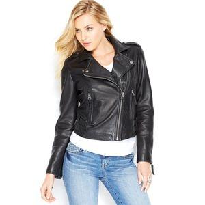 Lucky Brand 100% Leather Moto Jacket